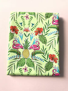 HALF-METRE-PINK-GREEN-FLAMINGO-FLOCK-TO-THE-OASIS-QUILTING-FABRIC-MICHAEL-MILLER