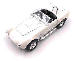 Shelby-Cobra-coche-modelo-convertible-auto-deportivo-Oldtimer-coche-blanco-escala-1-34
