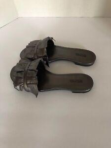 MIchael Kors Bella Leather Ruffle Slide