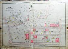 1919 INWOOD MANHATTAN NY G.W. BROMLEY MAP COPY ATLAS DYCKMAN AV- WEST 207TH ST