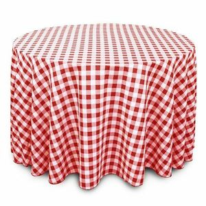 Ordinaire Image Is Loading 120 Inch Round Red And White Checkered Gingham