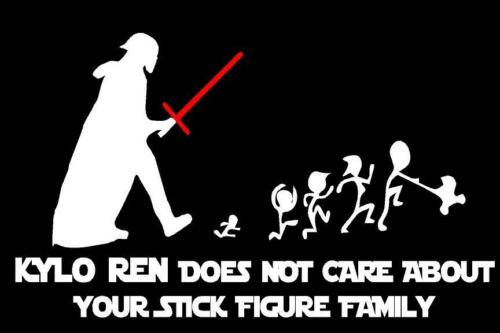 Star Wars GoGoStickers Kylo Ren Does not care Stick Figure Family