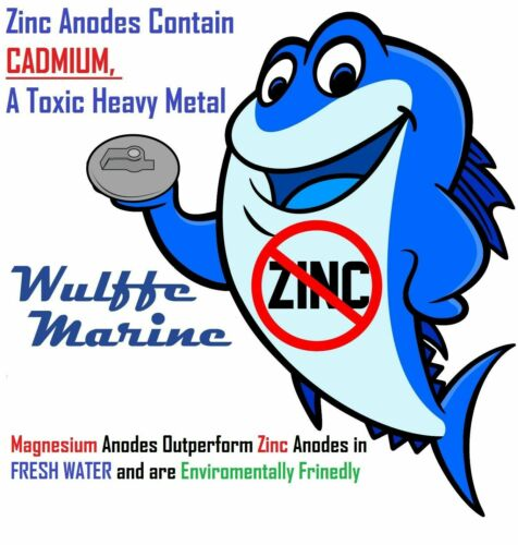 Magnesium Trim Tab Fin Anode 55125-90J01 Suzuki DF 60 70 80 90 100 115 140 HP