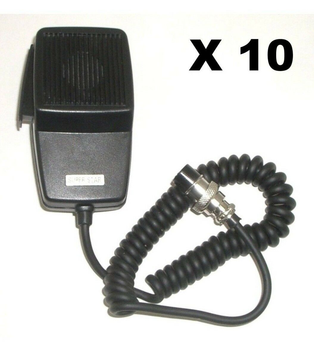 LOT OF 10 WORKMAN DM507-4 REPLACEMENT CB RADIO MICROPHONE 4-PIN COBRA/UNIDEN. Buy it now for 76.99