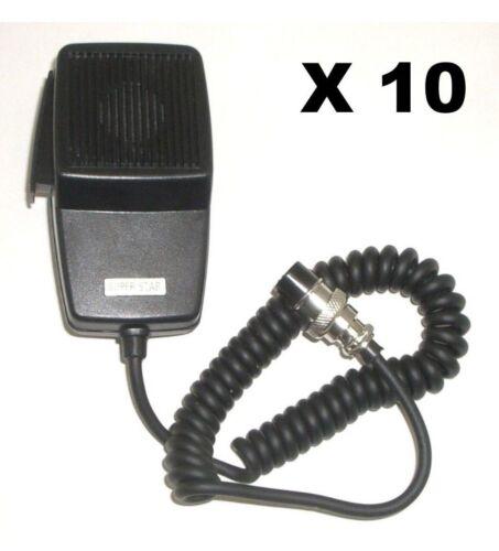 LOT OF 10 WORKMAN DM507-4 REPLACEMENT CB RADIO MICROPHONE 4-PIN COBRA//UNIDEN