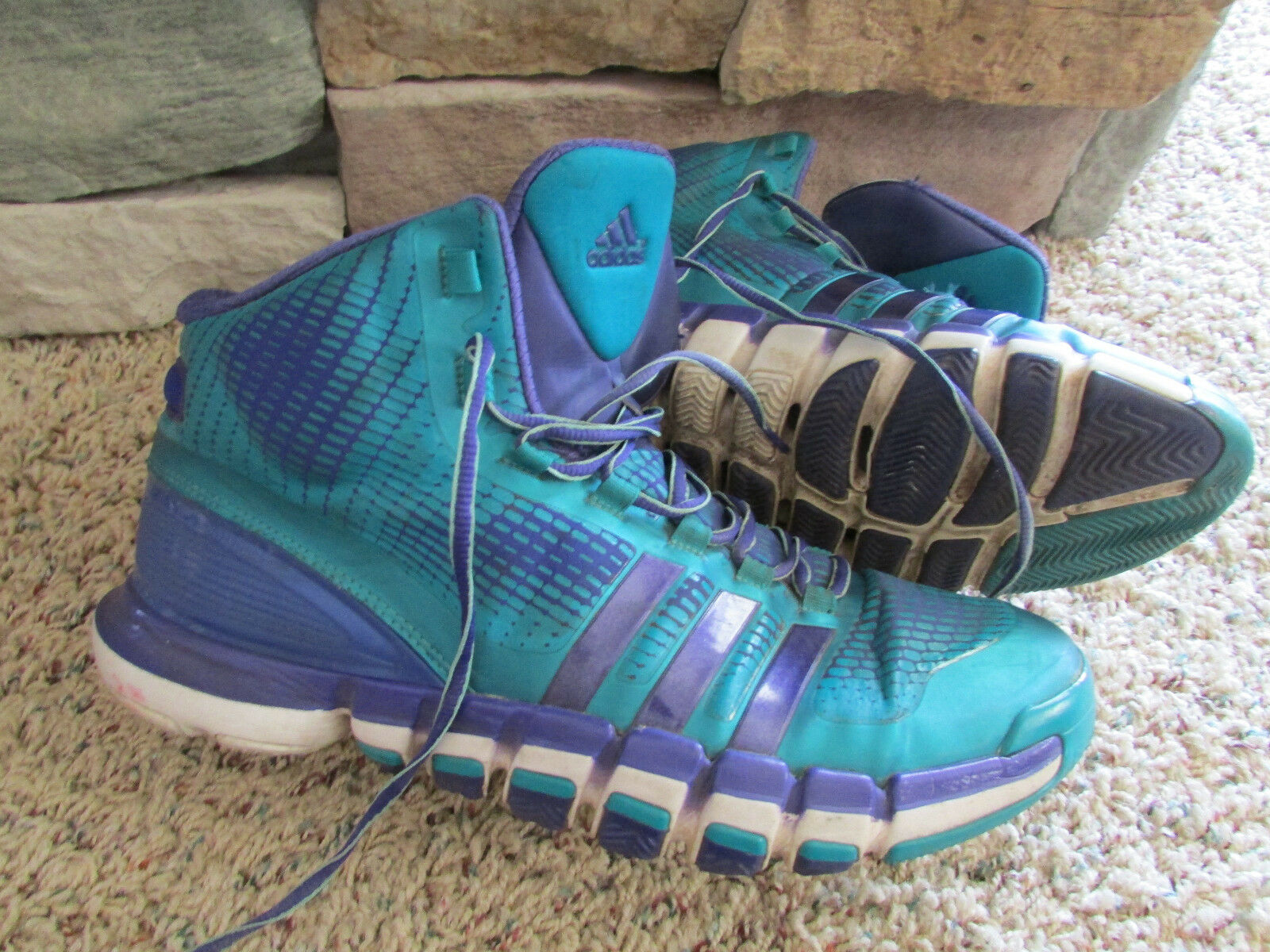 ADIDAS CRAZY QUICK BASKETBALL SHOES SNEAKERS MENS 11.5 Q33303 PURPLE TEAL