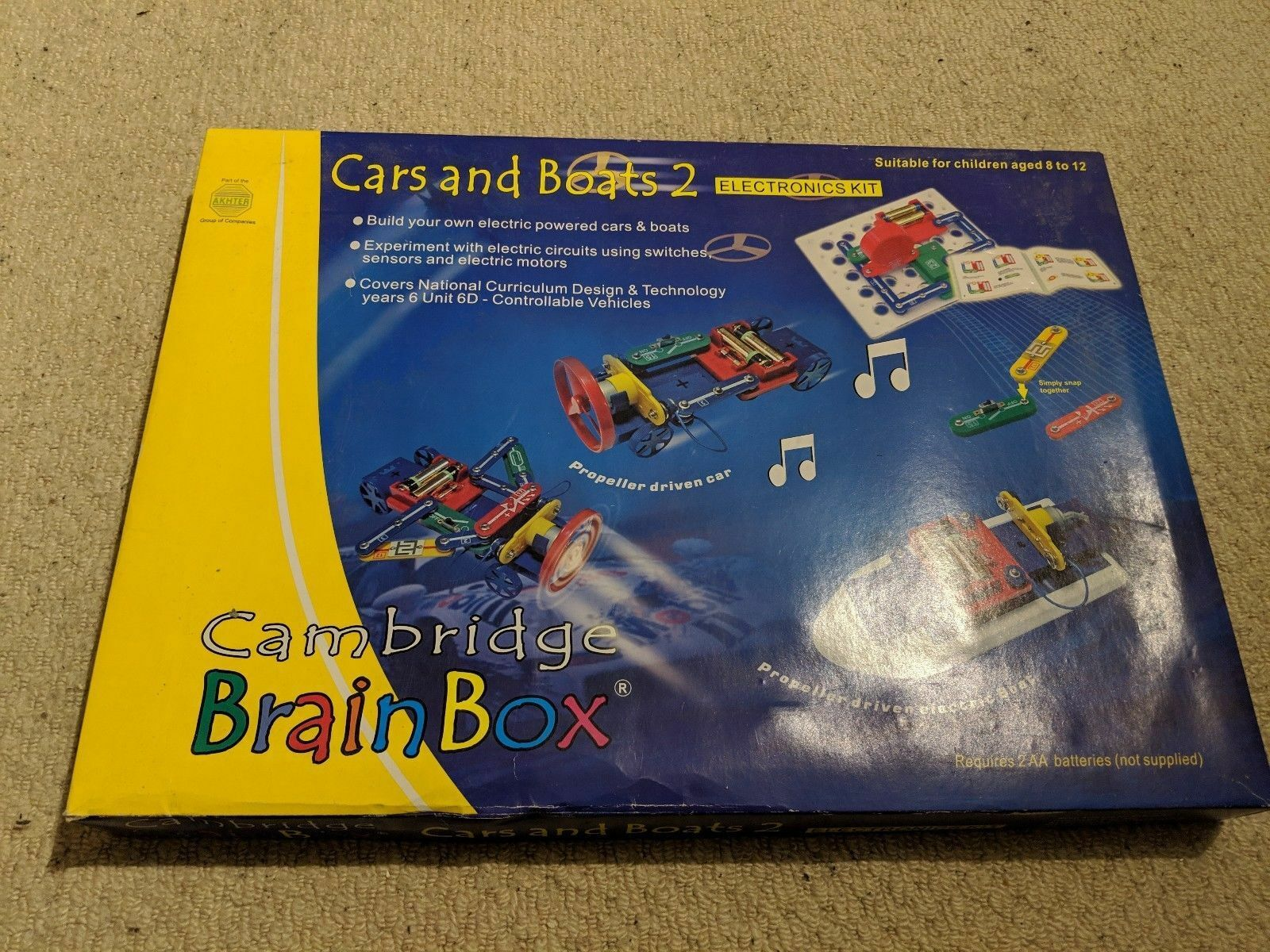 CAMBRIDGE BRAIN BOX, CARS AND BOATS 2, ELECTRONICS KIT