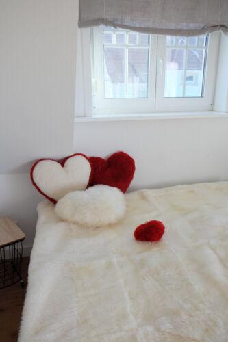 PEAU LAINEE Coussin-Coeur Décoration 45x40 cm Heart Coussin echtfell