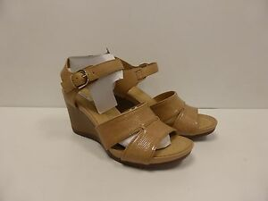 c808aaeee76 NEW GEOX D Rorie Womens Platform Roxy Wedge Heels Sandal Natural ...