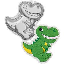 Wilton Dinosaurio Novedad Pastel Pan Tin Molde Fiesta De Cumpleaños T-rex Jurassic en forma de