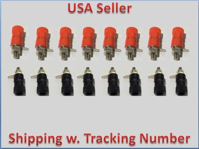 16pcs Speaker Amplifier Terminal Binding Post Banana Plug Socket Connector