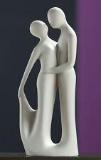 "Gilde Francis Figur Deko Statue Sculptur Paar ""Mit Schwung"" creme 37 cm 30384"