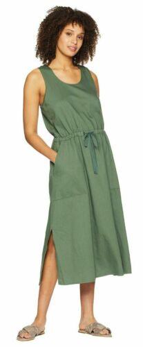 NWT $208 Eileen Fisher NORI Drawstring Org.Cotton Twill Calf Length Dress M L XL
