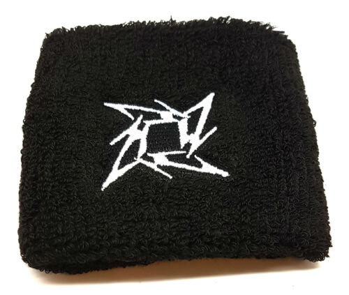 Metallica Ninja Star Sudor Bandas Pulseras de Pulsera Deportivo Fitness Muñequeras x4