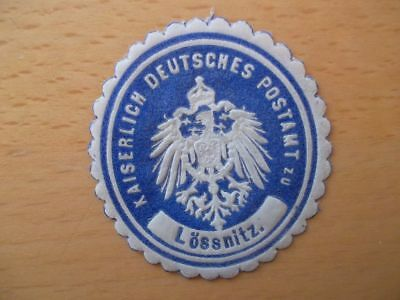 (10358) Siegelmarke - Kaiserl. Deutsches Postamt Lössnitz Geschickte Herstellung
