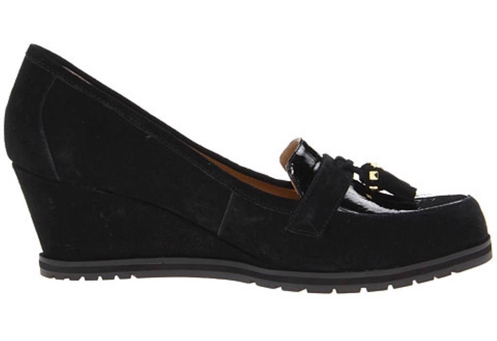 Para mujeres Zapatos Isaac Mizrahi Naples resbalón en las las las Cuñas Tacones Suede Negro  mejor marca