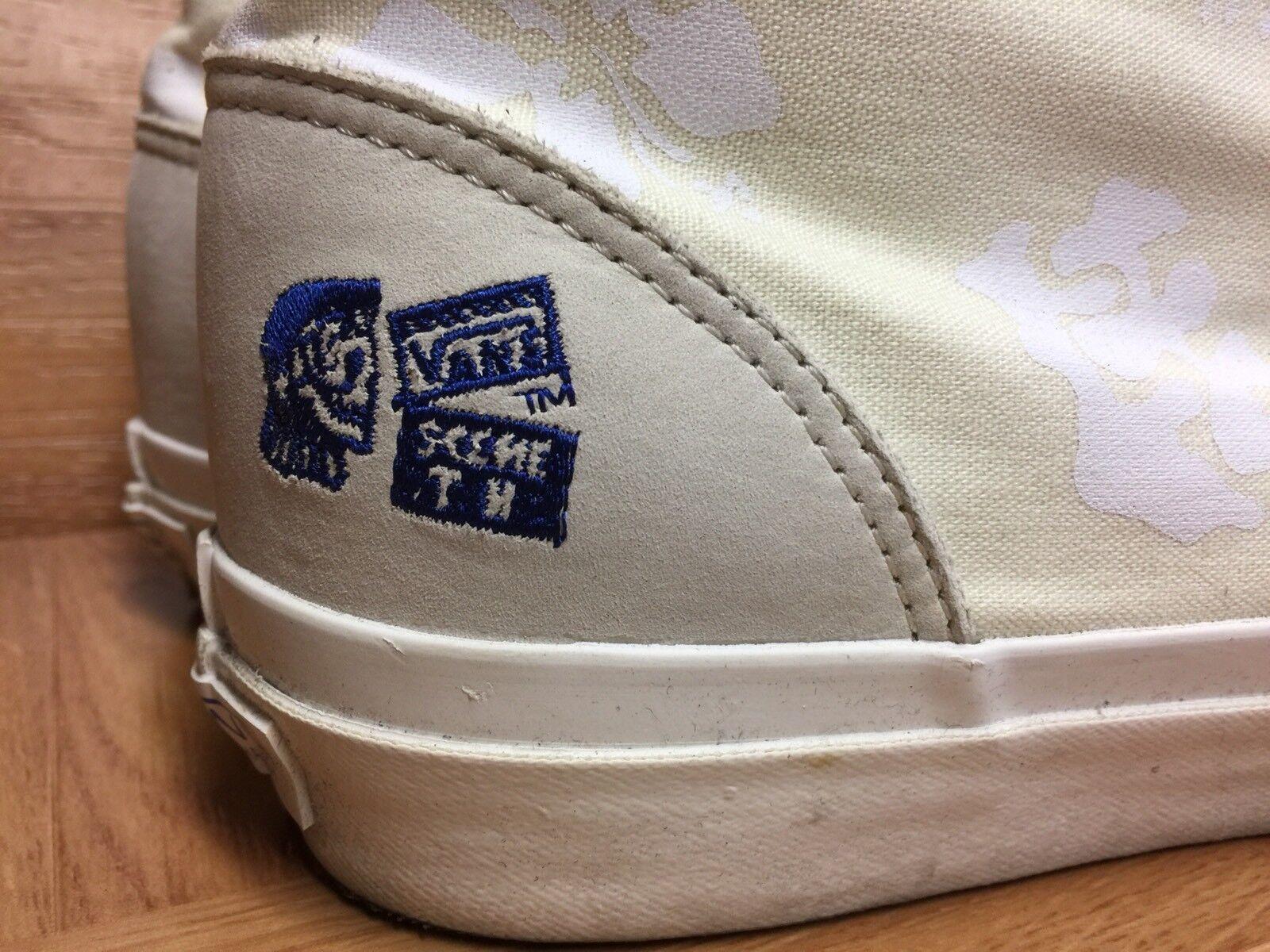 RARE� VANS TH Taka Hayashi Chukka 75 LX Nubuck Canvas Leather Marshmallow Nubuck LX Sz 13 3ffb58