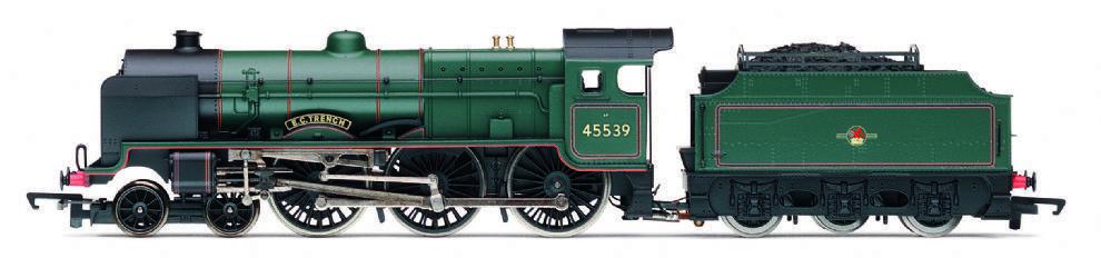 Hornby R3154 Patriot Klass 4 6 0 45539 E C TRENCH BR grön Late Crest BRAND NY