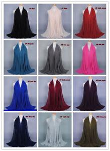 180-75cm-Chiffon-Maxi-Women-Hijab-Scarf-Shawl-Wrap-Muslim-Islamic-Headwear-Arab