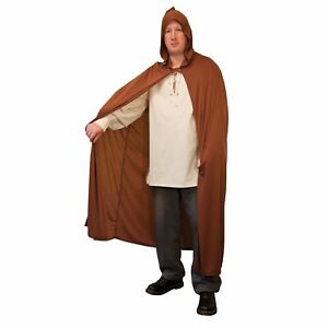 Adulte Marron à Capuche Cape Magique Fancy Dress Up Party Halloween Costume Accessoire-afficher Le Titre D'origine