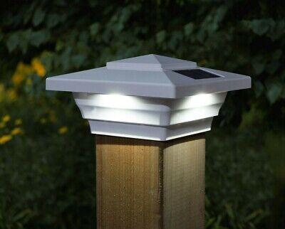 6-Pk Solar White Cap Light With White LED For PVCVinyl Square Fence Post US Seller 4 in. x 4 in.