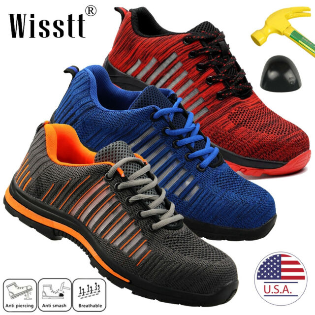 1f1342cd6ff00 Safety Steel Toe Work Shoes Breathable Sneakers Anti-Slip Puncture Proof  for Men