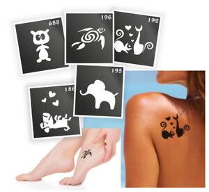 5-Pieces-Henna-Tattoo-Stencil-Air-Brushing-or-Glitter-Tattoos