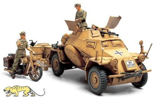 1:35 Inkl Motorrad und Figuren 222 Afrika Korps Sd.Kfz Tamiya 35286