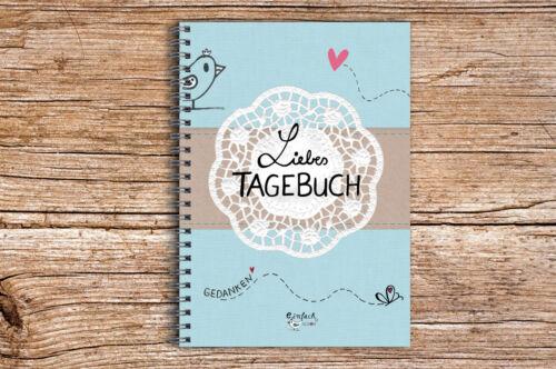 Liebes Tagebuch DIARY Din A5 Vintage Notizbuch