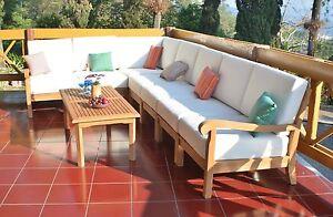 Napa A-Grade Teak Wood 8pc Outdoor Garden Sectional Sofa Lounge Set ...