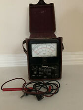 Simpson 260 Series 6 Volt Ohm Milliammeter Multi Meter With Brown Leather Case