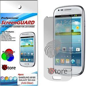 4-Pellicola-Opaca-Per-Samsung-Galaxy-S3-Mini-i8190-Antiriflesso-Antimpronta