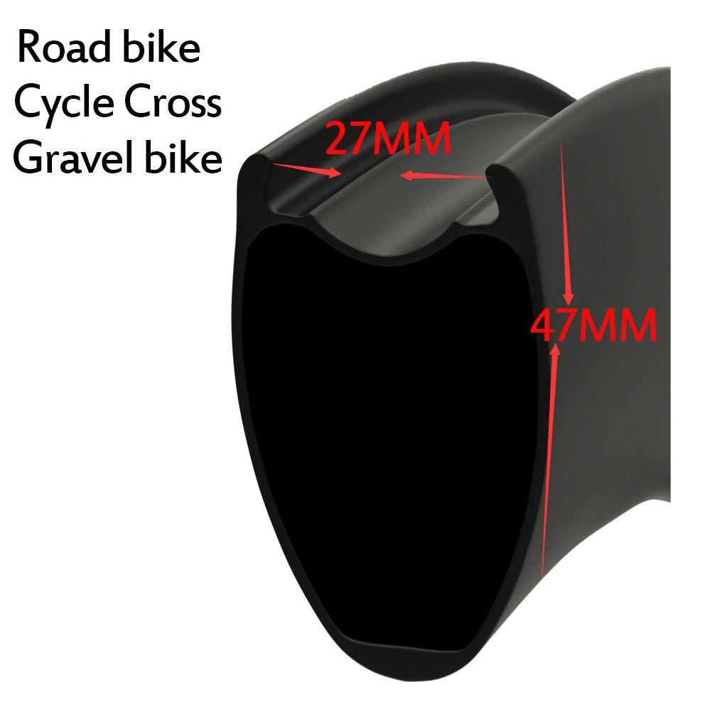 2019 New Mould 4727mm width rim more aero Tubeless Ready Road Bike Carbon Wheel