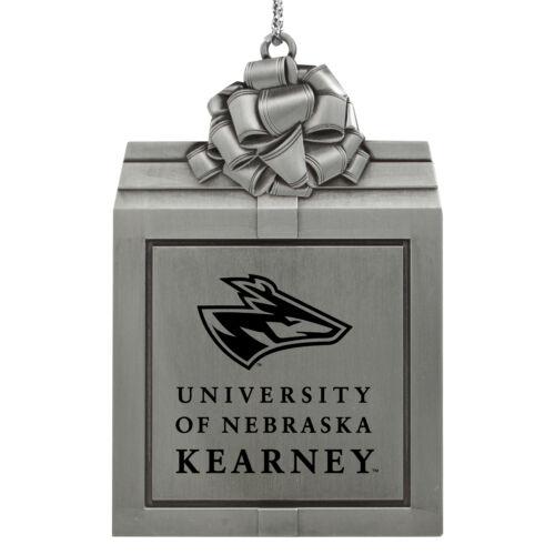Pewter Christmas Holiday Ornament-Silver University of Nebraska at Kearney