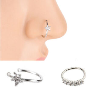 5pcs Indian Style Nose Ring Hoop Studs For Women Favor Jewelry For