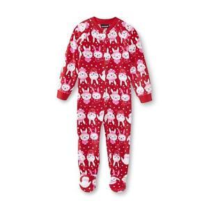 2d34007848 Das Bild wird geladen USA-98-104-Schlafanzug-Einteiler -Fleece-Nachtwaesche-Schneehase-