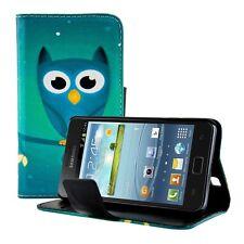 kwmobile Schutz Hülle für Samsung Galaxy S2 S2 PLUS Eule Nacht Kunstleder Case