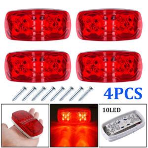 Details about 4x Tiger Eye Indicators Side Marker Cab Sleeper Lights 10 LED  Trailer RV Camper