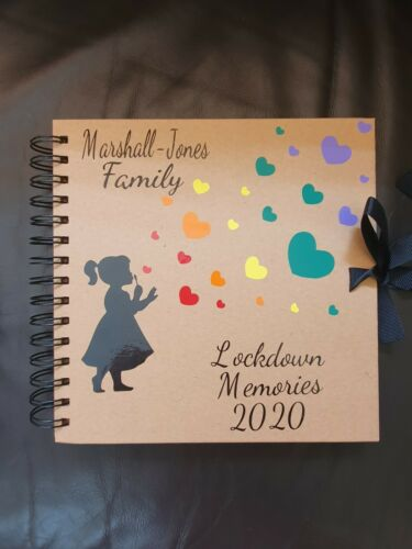 Personalised Scrapbook Album with 15 sheets craft paper Lockdown Memory Book
