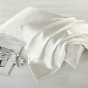Carlty-039-s-Silk-Pillowcase-White-100-Pure-Mulberry-19-Momme-Flawless-Silk