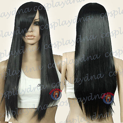 28 inch Hi_Temp Series Pumpkin Orange Long Cosplay DNA Wigs 76PPO