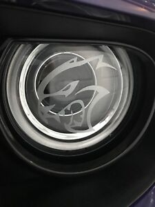 Dodge Hellcat Logo Headlight Decals Vinyl Sticker Charger Challenger SRT Demon