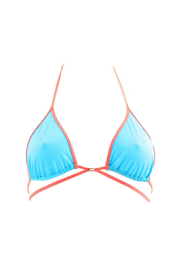 L'Agent by Agent Provocateur Womens Bright Bikini Top Soft bluee Size S