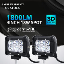 "2pc 4""inch 18W LED Work Light Bar 4WD Offroad SPOT Pods Fog ATV SUV Driving Lamp"