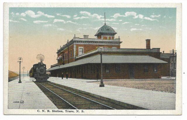 TRURO NOVA SCOTIA C. N. R. Train Station Publisher Valentine & Sons