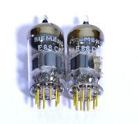 Siemens E88CC = CCa 6922 6DJ8  NOS Tube Gold Pins Top Halo Chromed Dome