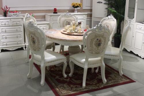 4x Chair Classic Rococo Baroque Armchair Chairs Lehn Chair Pads Dining Room 905