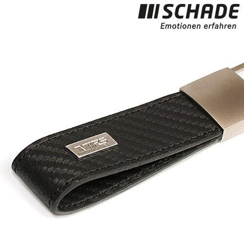 Original Skoda RS Schlüsselanhänger Carbon Optikleder schwarz MVF76-032