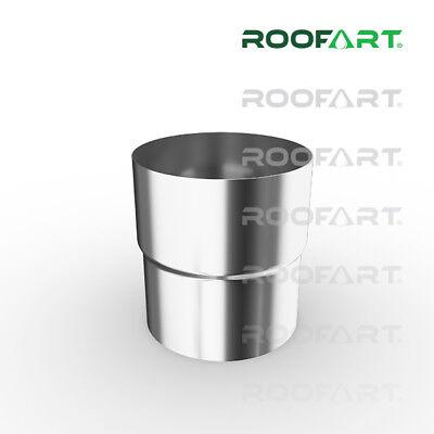 Für 87 Mm Rohr In Vielen Stilen verzinkt Offen Roofart Fallrohrverbinder Verbindungsmuffe