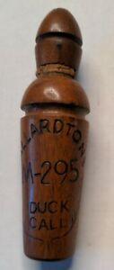 Mallardtone Engraved Wood M-295 Duck Call Mallard Duck Hunting Vintage Untested.